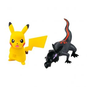 "Boneco Pokémon Action Figure 2"" - Salandit + Pikachu| TOMY/Sunny"