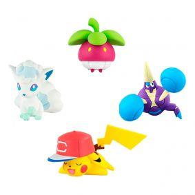 "Boneco Pokémon Action Figure 2"" - Vulpix de Alola + Crabrawler e Bounsweet + Pikachu | TOMY/Sunny"