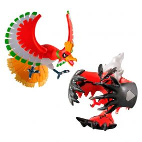 "Boneco Pokémon Action Figure 4"" - Ho-Oh + Yveltal | TOMY/Sunny"