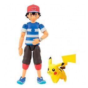 Boneco Pokémon Action Figure - Ash e Pikachu | TOMY/Sunny