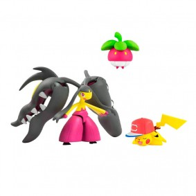 "Boneco Pokémon Action Figure - Mega Mawile 6"" + Bounsweet + Pikachu 2"" | TOMY/Sunny"