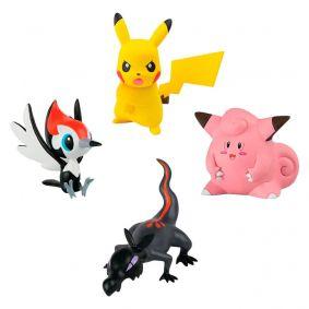 "Boneco Pokémon Action Figure 2"" - Salandit + Pikachu + Pikipek + Clefairy | TOMY/Sunny"