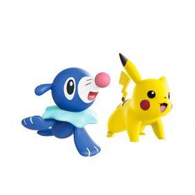 "Boneco Pokémon Battle Figure 2"" - Pikachu e Popplio | WCT/DTC"