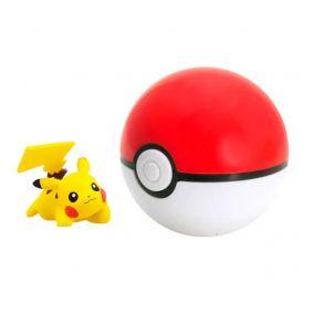Boneco Pokémon Clip N' Carry - Pikachu + PokéBola | TOMY/Sunny
