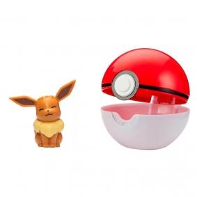 Boneco Pokémon Clip 'N' Go com Eevee + Poké Ball | Jazwares