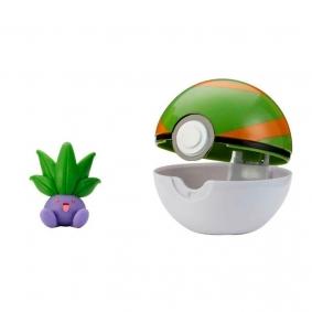 Boneco Pokémon Clip 'N' Go com Oddish + Nest Ball | Jazwares