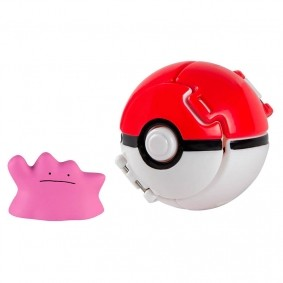 Boneco Pokémon Throw N' Pop - Ditto + PokéBola | TOMY/Sunny