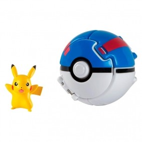 Boneco Pokémon Throw N' Pop - Pikachu + Grande Bola | TOMY/Sunny