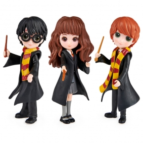 Bonecos Harry Potter Magical Minis - Harry, Hermione e Ron   Spin Master
