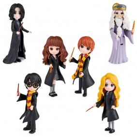 Bonecos Harry Potter Magical Minis - Harry, Hermione, Ron, Dumbledore, Snape e Luna   Spin Master