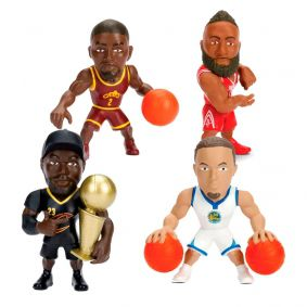 "Bonecos MetalFigs 2,5"" - LeBron James + Stephen Curry + Kyrie Irving + James Harden 