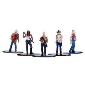"Bonecos Nano MetalFigs 1,65"" - 5-Pack A The Walking Dead 