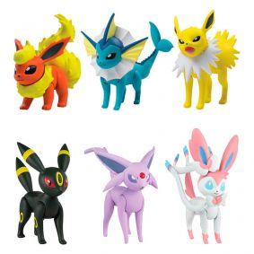 "Bonecos Pokémon Battle Figure 2"" - Jolteon, Vaporeon e Flareon + Umbreon, Sylveon e Espeon | TOMY/Sunny"