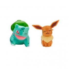 "Bonecos Pokémon Battle Figure Pack 2"" - Eevee + Bulbasaur | Jazwares"
