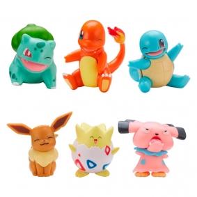 "Bonecos Pokémon Battle Figure Pack 2"" - Eevee + Bulbasaur, Togepi + Charmander e Snubbull + Squirtle | Jazwares"