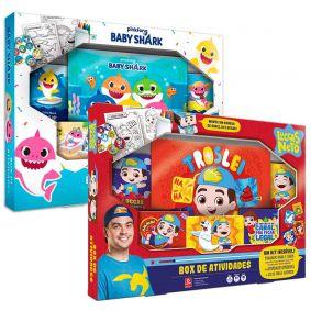 Box de Atividades pinkfong Baby Shark + Luccas Neto | COPAG