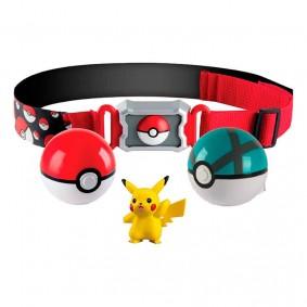 Cinto Pokémon Clip N' Carry com Pokébola + Bola Tela + Pikachu | TOMY/Sunny