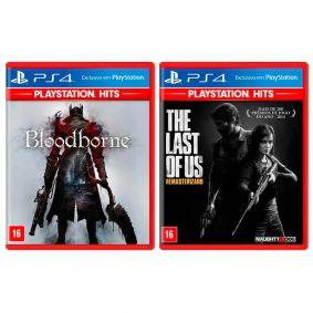 Combo Jogos Bloodborne + The Last of Us: Remasterizado - PS4