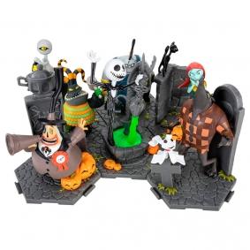 Figuras de Ação The Nightmare Before Christmas Set Completo | Zoteki