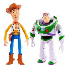 Figuras Falantes Toy Story - True Talkers: Woody + Buzz Lightyear Articulados | Mattel/Disney Pixar