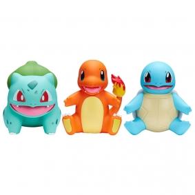 "Figuras Pokémon Select Bulbasaur, Charmander e Squirtle #S1 em Vinilo 4"" | Jazwares"