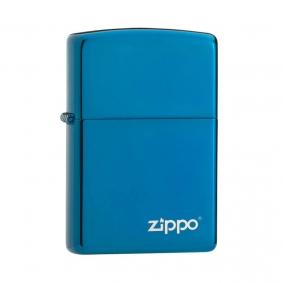 Isqueiro Zippo 20446ZL Classic Azul Zippo Logo Polido