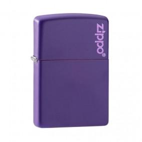 Isqueiro Zippo 237ZL Classic Zippo Logo Roxo Fosco