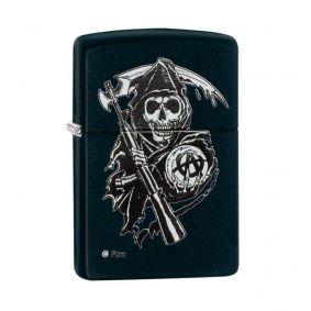 Isqueiro Zippo 28504 Classic Sons of Anarchy™ Grim Reaper Preto Fosco