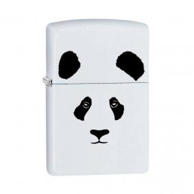 Isqueiro Zippo 28860 Classic Panda Branco Fosco