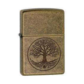 Isqueiro Zippo 29149 Classic Árvore da Vida Latão Antigo