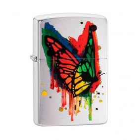 Isqueiro Zippo 29392 Classic Cromado Collored Butterfly Escovado