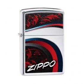 Isqueiro Zippo 29415 Classic Cromado Satin and Ribbons Polido