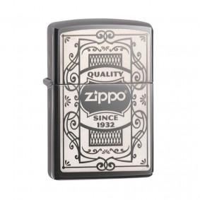 Isqueiro Zippo 29425 Classic Quality Zippo Logo Black Ice®
