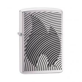 Isqueiro Zippo 29429 Classic Cromado Illusion Flame Escovado