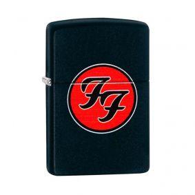 Isqueiro Zippo 29477 Classic Foo Fighters Preto Fosco