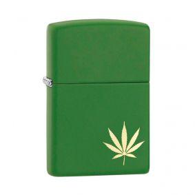 Isqueiro Zippo 29588 Classic Marijuana Leaf Verde Fosco