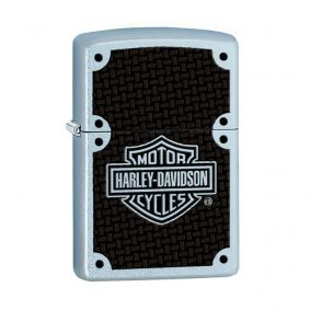 Isqueiro Zippo 24025 Classic Cromado Harley-Davidson® Carbon Fiber Satin