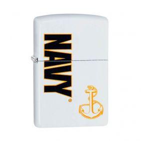 Isqueiro Zippo 29761 Classic U.S Navy® Branco Fosco