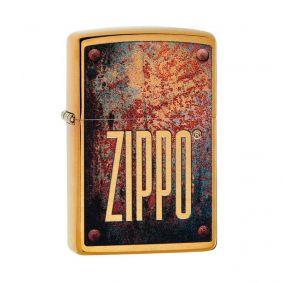 Isqueiro Zippo 29879 Classic Latão Rusty Plate Escovado