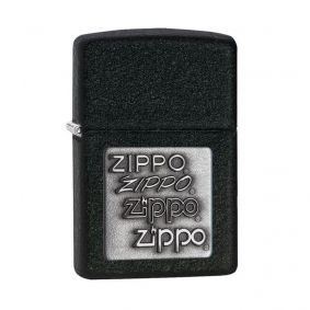 Isqueiro Zippo 363 Classic Silver Zippo Logo Black Crackle