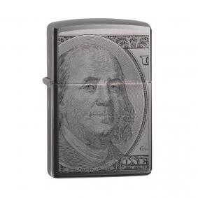 Isqueiro Zippo 49025 Classic Benjamin Franklin Black Ice®