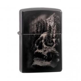 Isqueiro Zippo 49141 Classic Skull Mountain Black Ice®