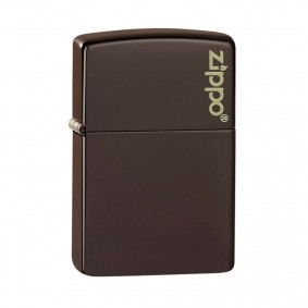 Isqueiro Zippo 49180ZL Classic Zippo Logo Marrom Fosco