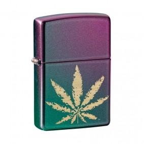 Isqueiro Zippo 49185 Classic Marijuana Leaf Iridescente