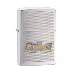 Isqueiro Zippo 49204 Classic Cromado Block Letters Escovado