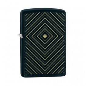 Isqueiro Zippo 49219 Classic Gold & Black Box Design Preto Fosco