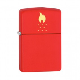 Isqueiro Zippo 49231 Classic Zippo Flame Holes Vermelho Fosco