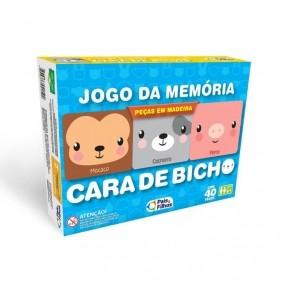 Jogo da Memória em Madeira - Cara de Bicho | Pais & Filhos
