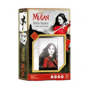 Jogo de Cartas 2 em 1 Monta-Quadros + Cartas para Colorir - Mulan | COPAG