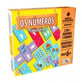 Jogo Os Números 2 em 1: Memória e Dominó em Madeira | Pais & Filhos